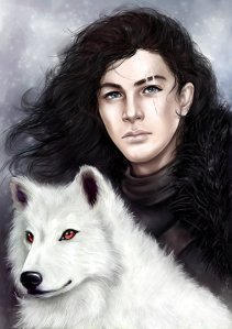 jon_snow_and_ghost_by_satelliteghost-d9qzi9f