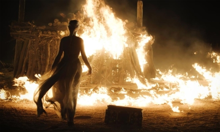 Still from Game of Thrones, Season 1, Episode 10. There were no artist renditions of the pyre available elsewhere.