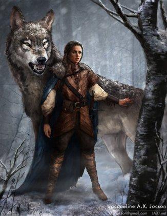 Arya-Stark-and-Nymeria